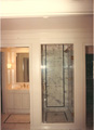 Houston River Oaks bath frameless glass shower 1987