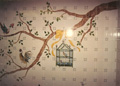 Houston River Oaks kitchen hand painted tile