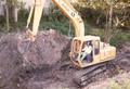 1990 Houston Memorial custom home excavating for storm sewer