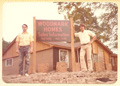 1976 Vern Wuensche and Ken Wuensche building first model home in Oakwood Glen