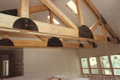 Structural and decorative beams in new custom home