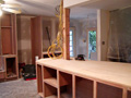 Houston kitchen cabinets under construction