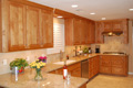 Houston Memorial kitchen cabinets finished on site