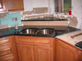 Houston kitchen granite sink piece installed