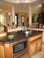 Houston kitchen honed granite island